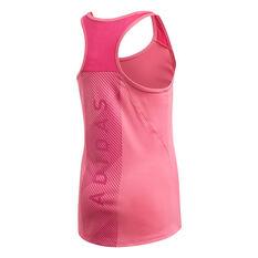 adidas Girls Training Logo Tank Top Pink 8, Pink, rebel_hi-res