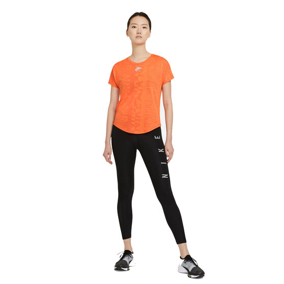 Nike Air Womens Running Tee Orange S, Orange, rebel_hi-res