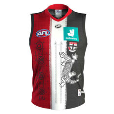 St Kilda Saints 2020 Mens Indigenous Guernsey Black S, Black, rebel_hi-res