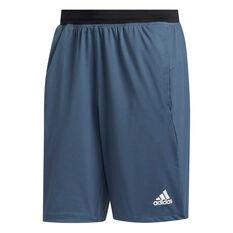 adidas Mens 4KRFT Ultimate 9in Shorts Blue S, Blue, rebel_hi-res