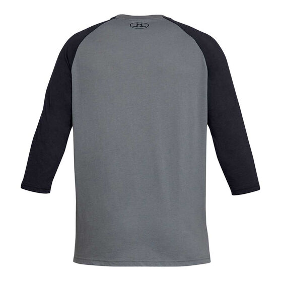 Under Armour Mens Sportstyle Left Chest 3/4 Tee, Grey, rebel_hi-res