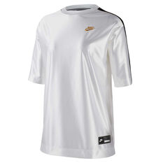 Nike Womens Sportswear Glam Dunk Tee White XS, White, rebel_hi-res