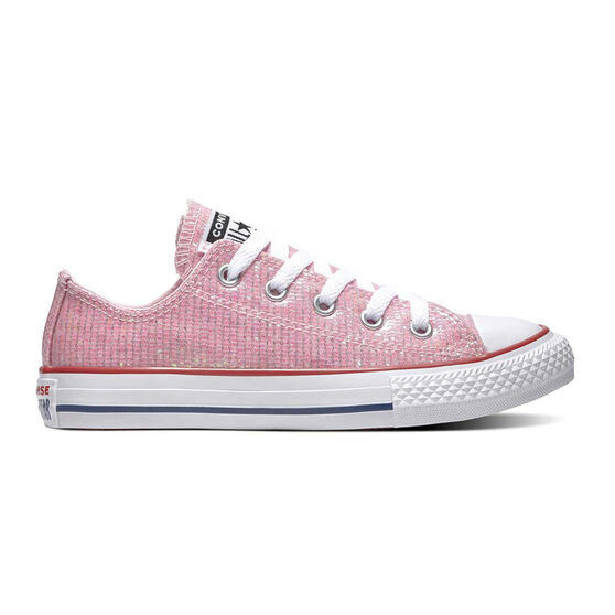 Converse Chuck Taylor All Star Sparkle Kids Casual Shoes, Pink / White, rebel_hi-res