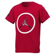 Nike Boys Jordan Jumpman Iconic Basketball Tee Red S, Red, rebel_hi-res