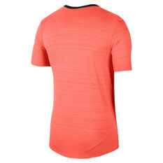 Nike Mens Dri-FIT Miler Tee Orange S, Orange, rebel_hi-res