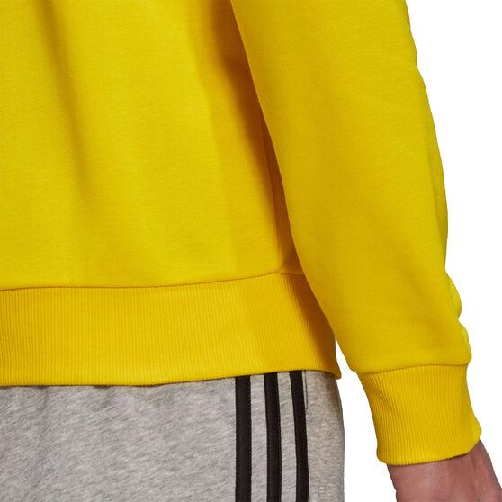 adidas Mens Volume Fleece Big Logo Sweatshirt, Yellow, rebel_hi-res