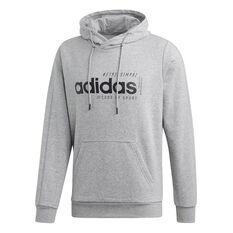 adidas Mens BB Hoodie Grey S, Grey, rebel_hi-res
