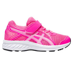 Asics Jolt 2 Kids Running Shoes Pink/White US 11, Pink/White, rebel_hi-res