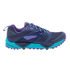 Brooks Cascadia 12 Womens Trail Running Shoes Navy / Blue US 6.5, Navy / Blue, rebel_hi-res