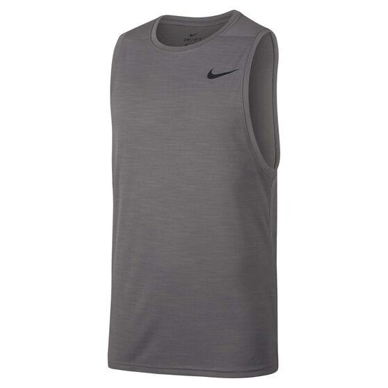 Nike Mens Superset Training Tank, Grey, rebel_hi-res