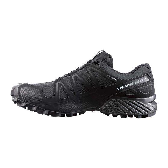 Men's Speedcross 4 Trail Shoes, Black / Metal, rebel_hi-res