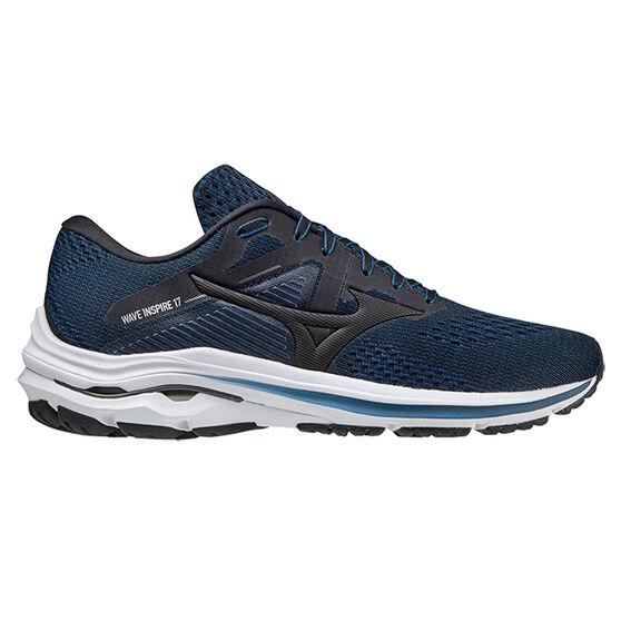 Mizuno Wave Inspire 17 Mens Running Shoes, Black/Blue, rebel_hi-res