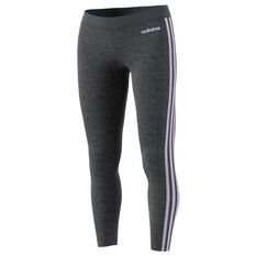 adidas Womens Essentials 3 Stripes Tights Grey XS, Grey, rebel_hi-res