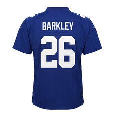 New York Giants Saquon Barkley 2020 Kids Jersey Blue S, Blue, rebel_hi-res