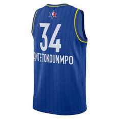 NBA All Star 2020 Giannis Antetokounmpo Swingman Jersey Blue S, Blue, rebel_hi-res
