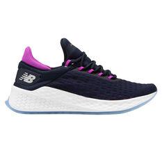 New Balance Fresh Foam Lazr v2 Womens Running Shoes Navy / Purple US 6, Navy / Purple, rebel_hi-res