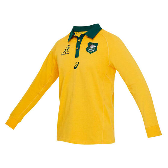 Wallabies 2020 Mens Traditional Long Sleeve Jersey, Gold, rebel_hi-res