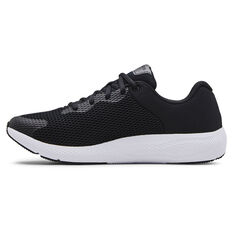 Under Armour Charged Pursuit 2 Mens Running Shoes Black/White US 7, Black/White, rebel_hi-res