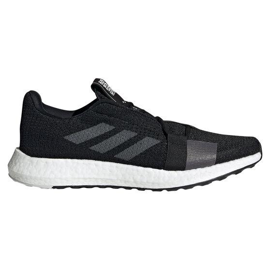 adidas Senseboost Go Mens Running Shoes, Black / White, rebel_hi-res