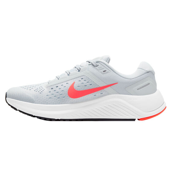 Nike Air Zoom Structure 23 Mens Running Shoes, White/Pink, rebel_hi-res