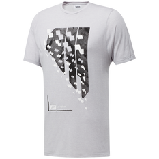 Reebok Mens Activchill Tee Grey S, Grey, rebel_hi-res