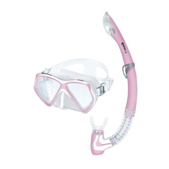 Mares Pirate Coral Junior Snorkel Set, Pink, rebel_hi-res