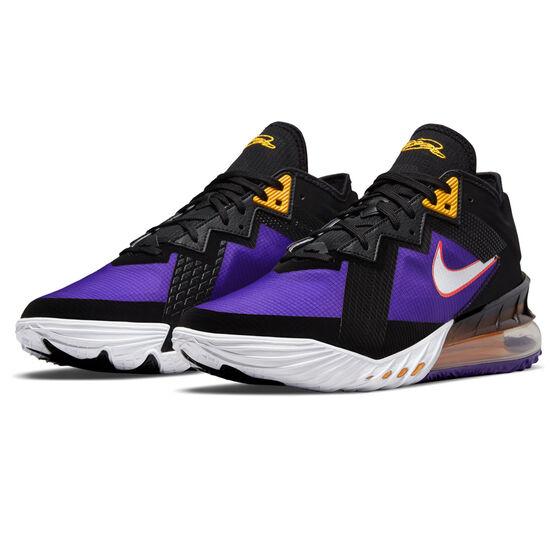 Nike LeBron 18 Low ACG Terra Basketball Shoes, Black/White, rebel_hi-res