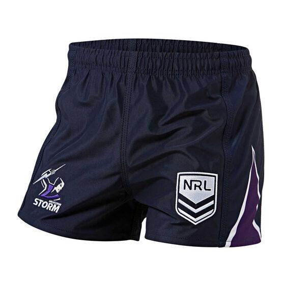 Melbourne Storm Mens Home Supporter Shorts, Navy, rebel_hi-res