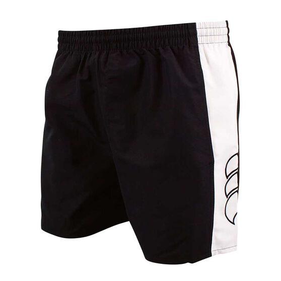 Canterbury Mens Panelled Tactic Shorts, Black / White, rebel_hi-res