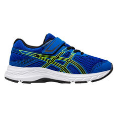 Asics GEL Contend 6 Kids Running Shoes Blue / Green US 11, Blue / Green, rebel_hi-res