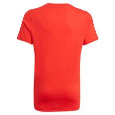 adidas Boys Essentials Big Logo Tee Red/White 8, Red/White, rebel_hi-res
