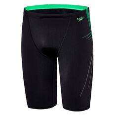 Speedo Mens Rush Jammer Swim Shorts Black / Gold 14, Black / Gold, rebel_hi-res