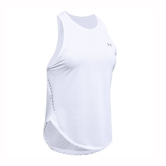 Under Armour Womens Armour Sport Graphic Tank, White, rebel_hi-res