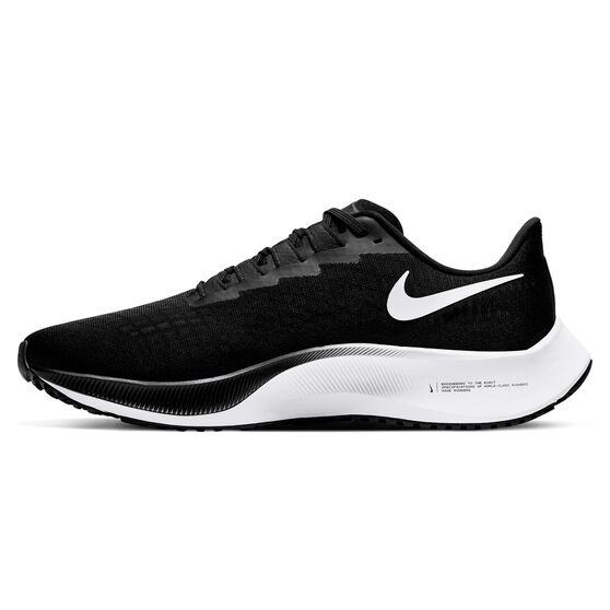 Nike Air Zoom Pegasus 37 Mens Running Shoes, Black/White, rebel_hi-res