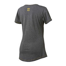 Australian Diamonds 2019 Womens Supporter Tee Grey S, Grey, rebel_hi-res
