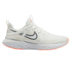 Nike Legend React 2 Womens Running Shoes White / Orange US 6, White / Orange, rebel_hi-res