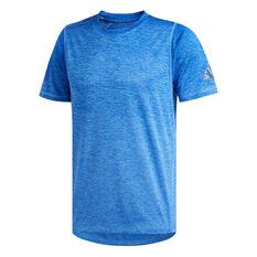 adidas Mens FreeLift 360 Graphic Training Tee Blue S, Blue, rebel_hi-res