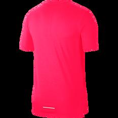 Nike Mens Breathe Rise 365 Running Tee Hot Pink S, Hot Pink, rebel_hi-res