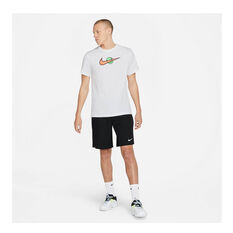 NikeCourt Mens Swoosh Tennis Tee White XS, White, rebel_hi-res