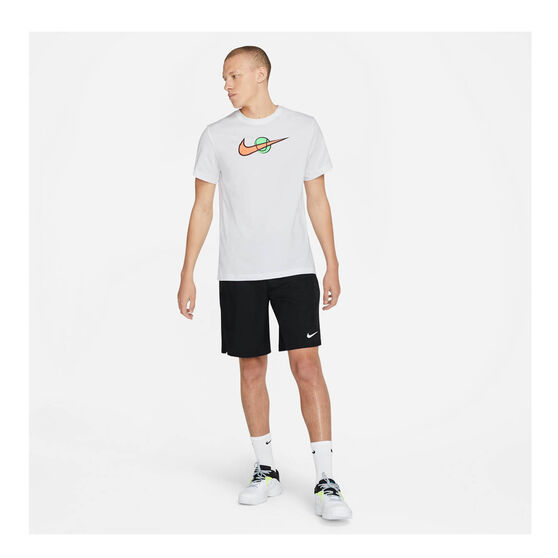 NikeCourt Mens Swoosh Tennis Tee, White, rebel_hi-res
