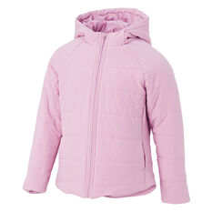 Ell & Voo Girls Masey Quilted Jacket Pink 6, Pink, rebel_hi-res