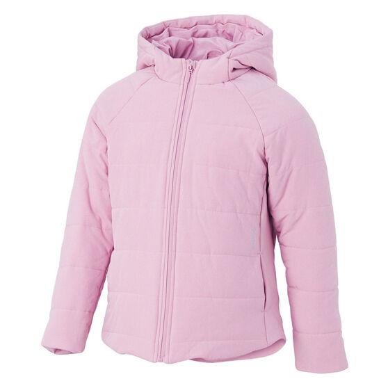 Ell & Voo Girls Masey Quilted Jacket, Pink, rebel_hi-res