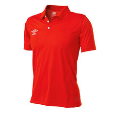 Umbro Mens Polo Red XS, Red, rebel_hi-res