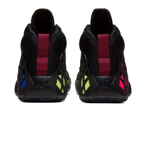 Nike Jumpman Diamond Mid Mens Basketball Shoes, Black / Silver, rebel_hi-res
