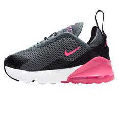 Nike Air Max 270 Kids Casual Shoes Grey/Pink US 4, Grey/Pink, rebel_hi-res