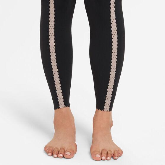 Nike Womens Yoga Luxe Eyelet 7/8 Tights, Black, rebel_hi-res