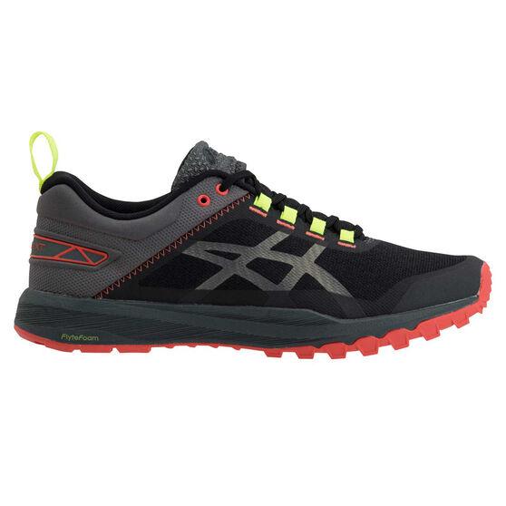 Asics Fuji Lyte XT Mens Trail Running Shoes, Grey / Orange, rebel_hi-res
