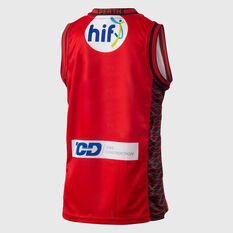 Perth Wildcats 2018 / 19 Kids Home Jersey Red 8, Red, rebel_hi-res