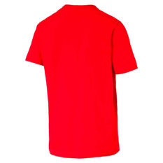 Puma Mens Essential Logo Tee Red S, Red, rebel_hi-res