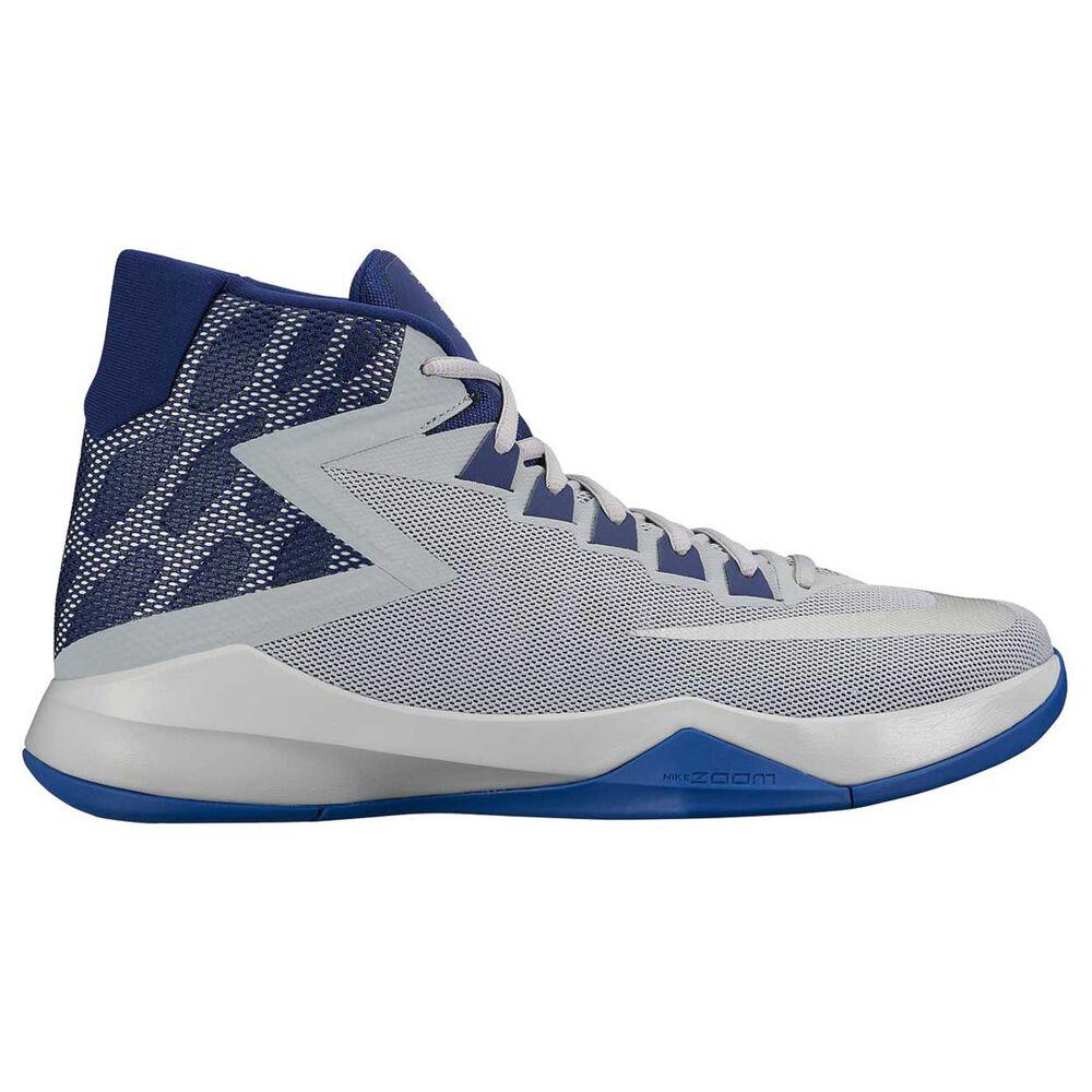 41d7fb43e7bc Nike Zoom Devosion Mens Basketball Shoes Grey   Blue US 9.5